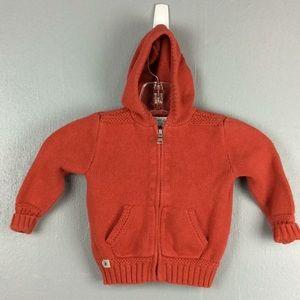Ralph Lauren Toddler Red Cotton Hoodie Sweater 18M